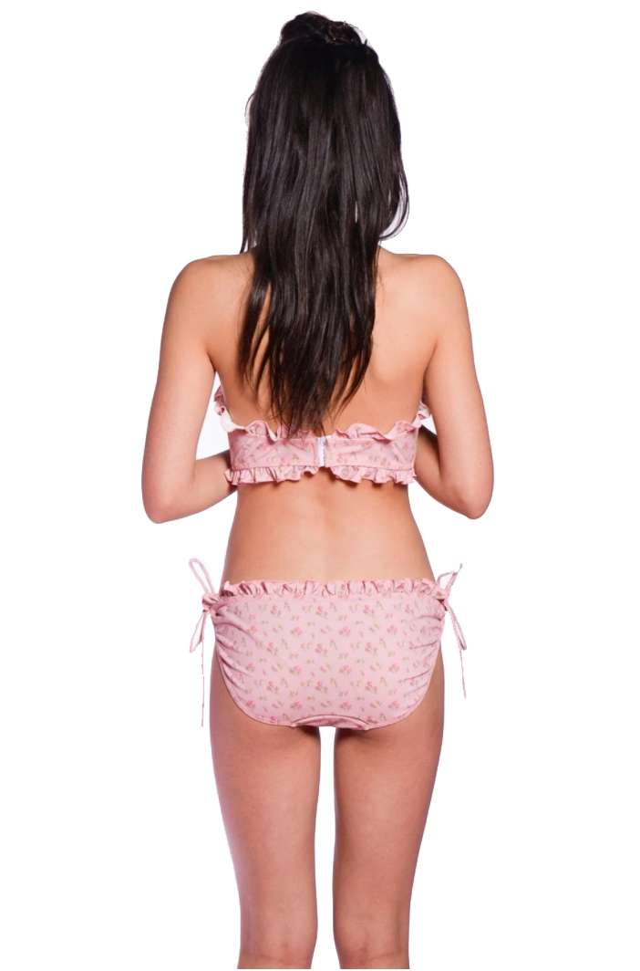 Rosebuds Strapless Swimsuit - Anna Sui