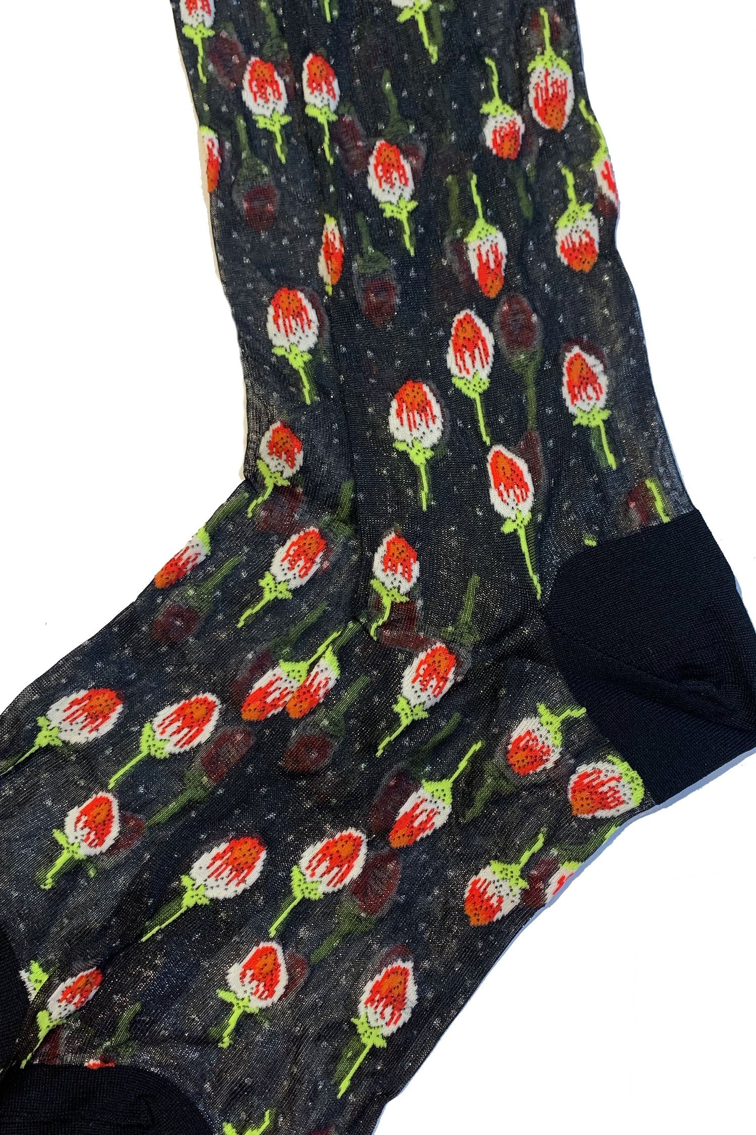 Roses are Red Sheer Socks - Anna Sui