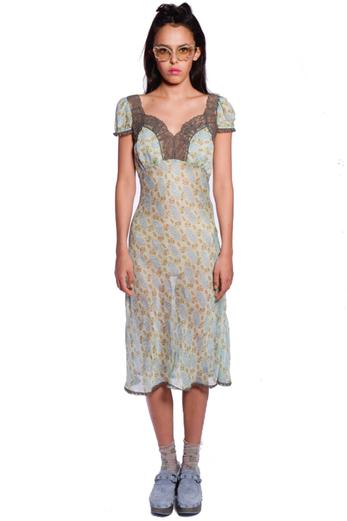 Rosine Rose Lace Dress - Anna Sui