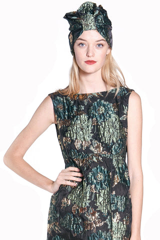Blooming Buds Clipped Jacquard & Lace Top