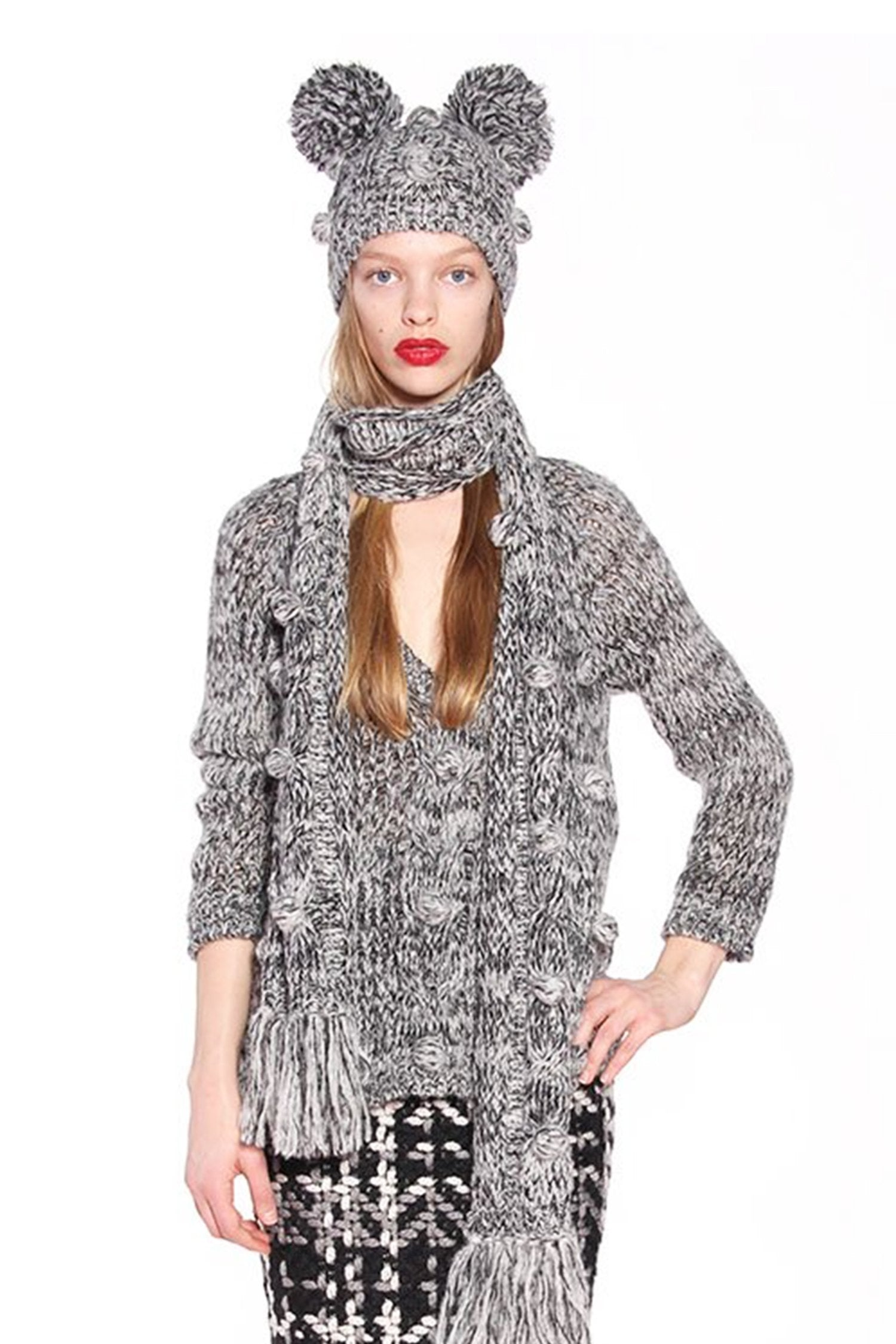 James Coviello for Anna Sui <BR> Mohair Melange Scarf </BR> - Anna Sui