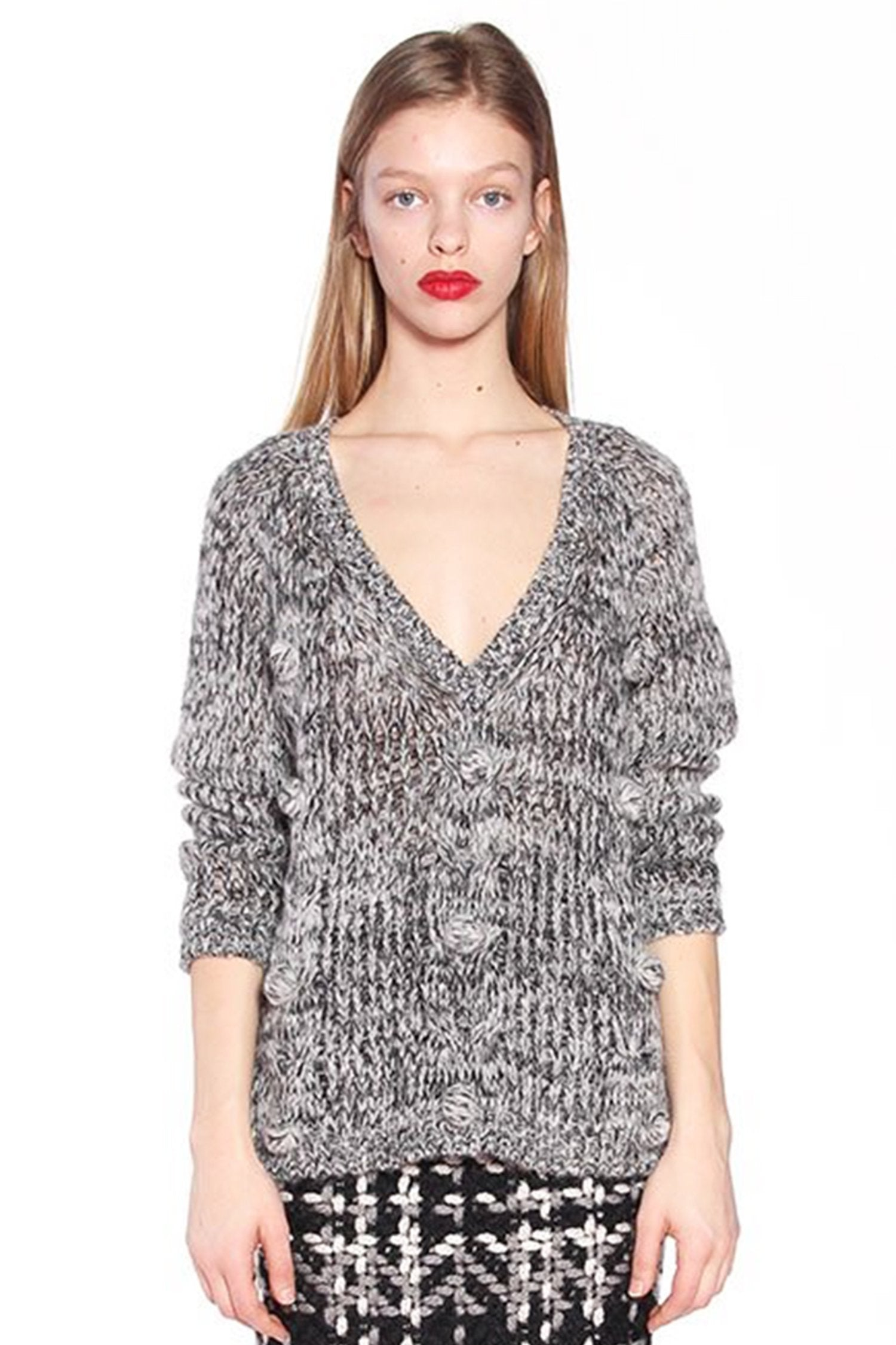 James Coviello for Anna Sui <BR> Mohair Melange Sweater </BR> - Anna Sui