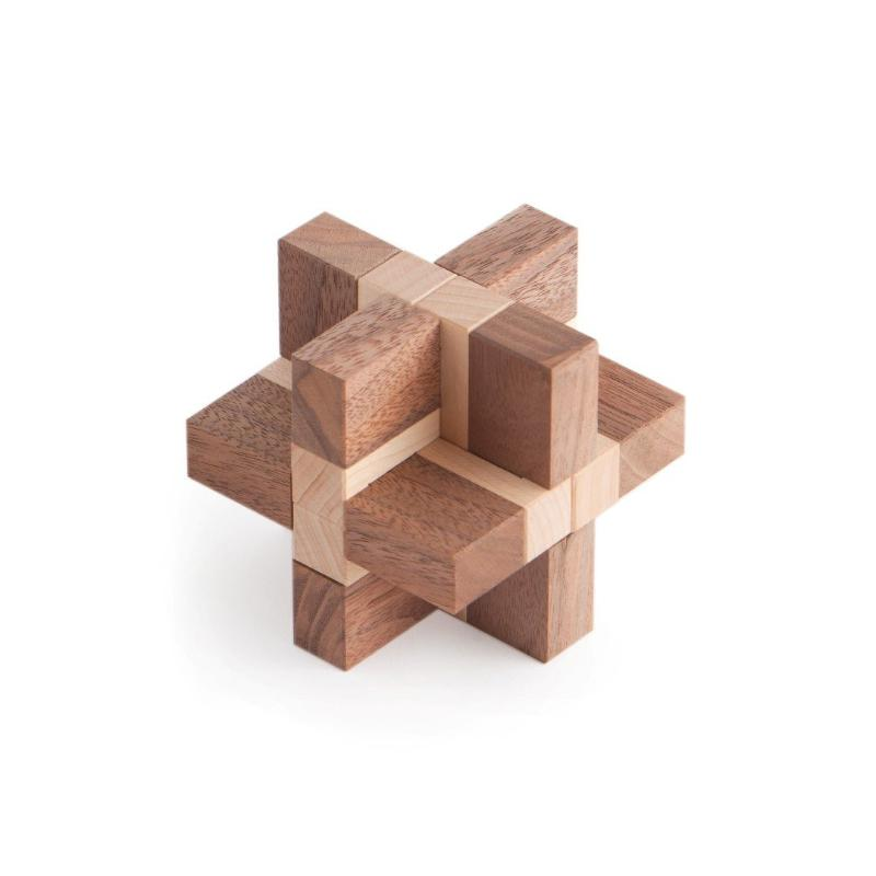 Interlocking Puzzle, Assembly Puzzle, Wooden Puzzle, Artisan Puzzle, Eric Fuller Puzzle, Cubic Dissection, Donald Osselaer, Walnut, Maple