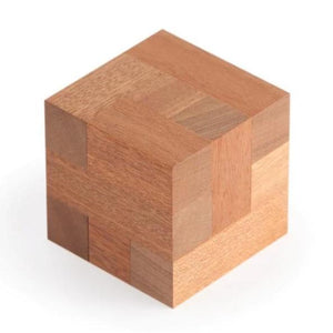 Assembly Puzzle, Wooden Puzzle, Artisan Puzzle, Cubic Dissection, Eric Fuller Puzzle, Stewart Coffin, Sapele