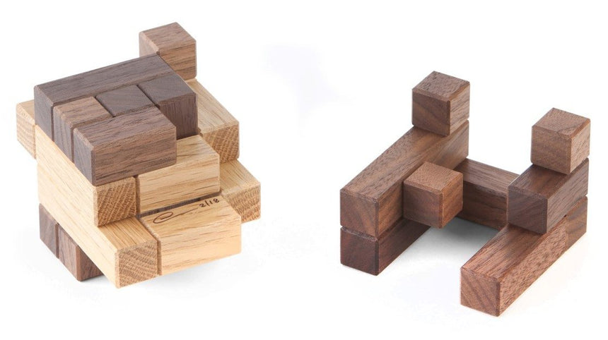 Interlocking puzzles, puzzle games for adults and engineering puzzles by CubicDissection.