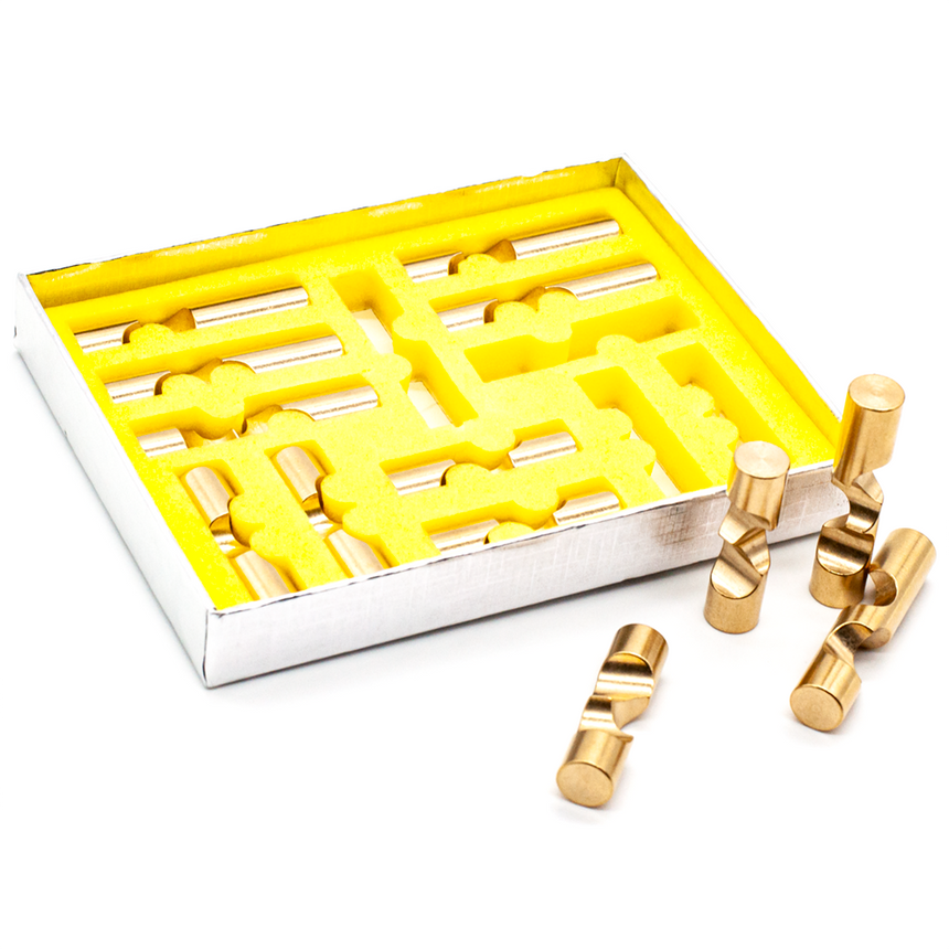 Metal Burr Puzzles, Adult Puzzles, Interlocking Puzzles by Cubic Dissection