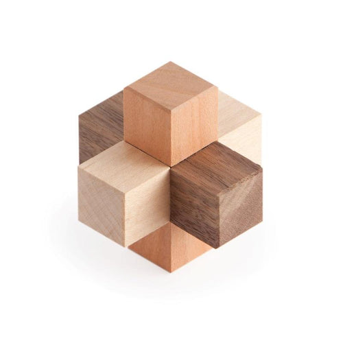 Burr Puzzle, Interlocking Puzzle, Assembly Puzzle, Wooden Puzzle, Artisan Puzzle, Eric Fuller Puzzle, Cubic Dissection, Ray Stanton, Walnut, Maple, Sapele