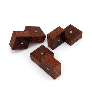 Three Cubes (Leopardwood)