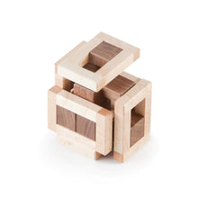 Burr Puzzle, Interlocking Puzzle, Assembly Puzzle, Wooden Puzzle, Signature Puzzle, Eric Fuller Puzzle, Cubic Dissection, Hajime Katsumoto, Walnut, Birdseye Maple
