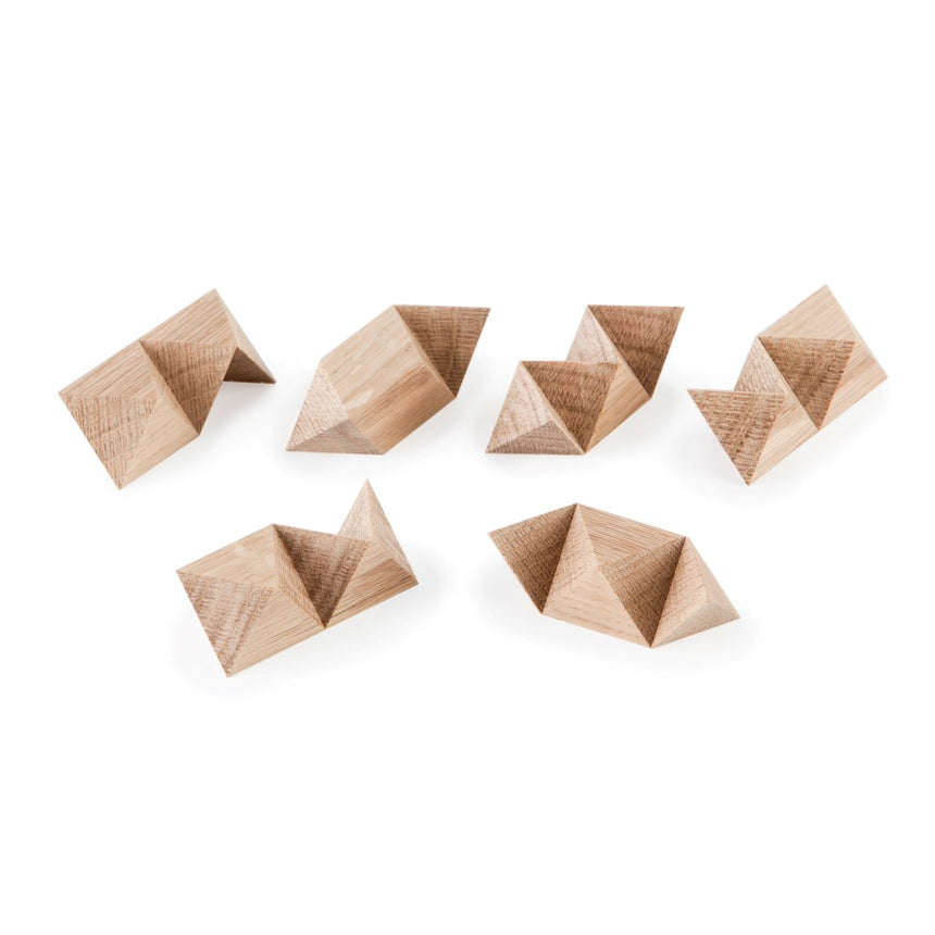 Burr Puzzle, Interlocking Puzzle, Assembly Puzzle, Wooden Puzzle, Artisan Puzzle, Eric Fuller Puzzle, Cubic Dissection, White Oak