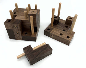 Logical Progression Interlocking Cube (Walnut)