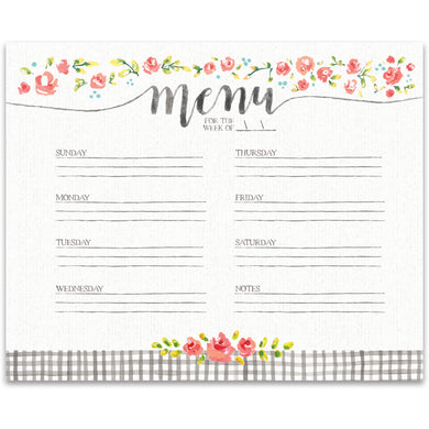 Pretty weekly meal planner