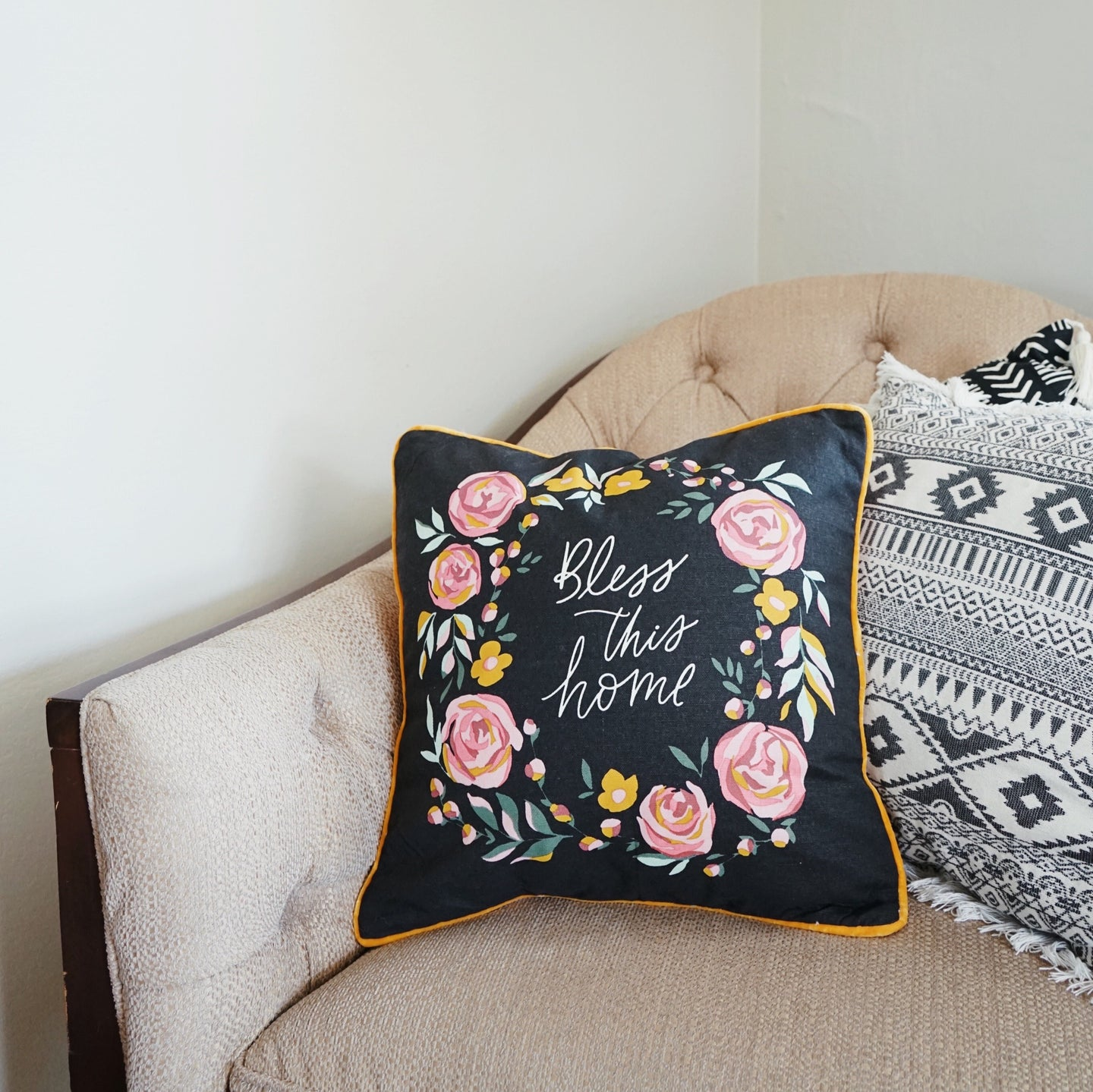 Botanical | Bless This Home Pillow