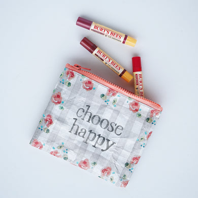 Zipper pouch | choose happy
