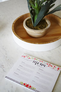 Pretty meal planner notepad. Annie Quigley Art for Primitives by Kathy