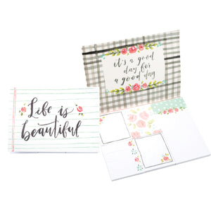 Floral notepads and sticky note set
