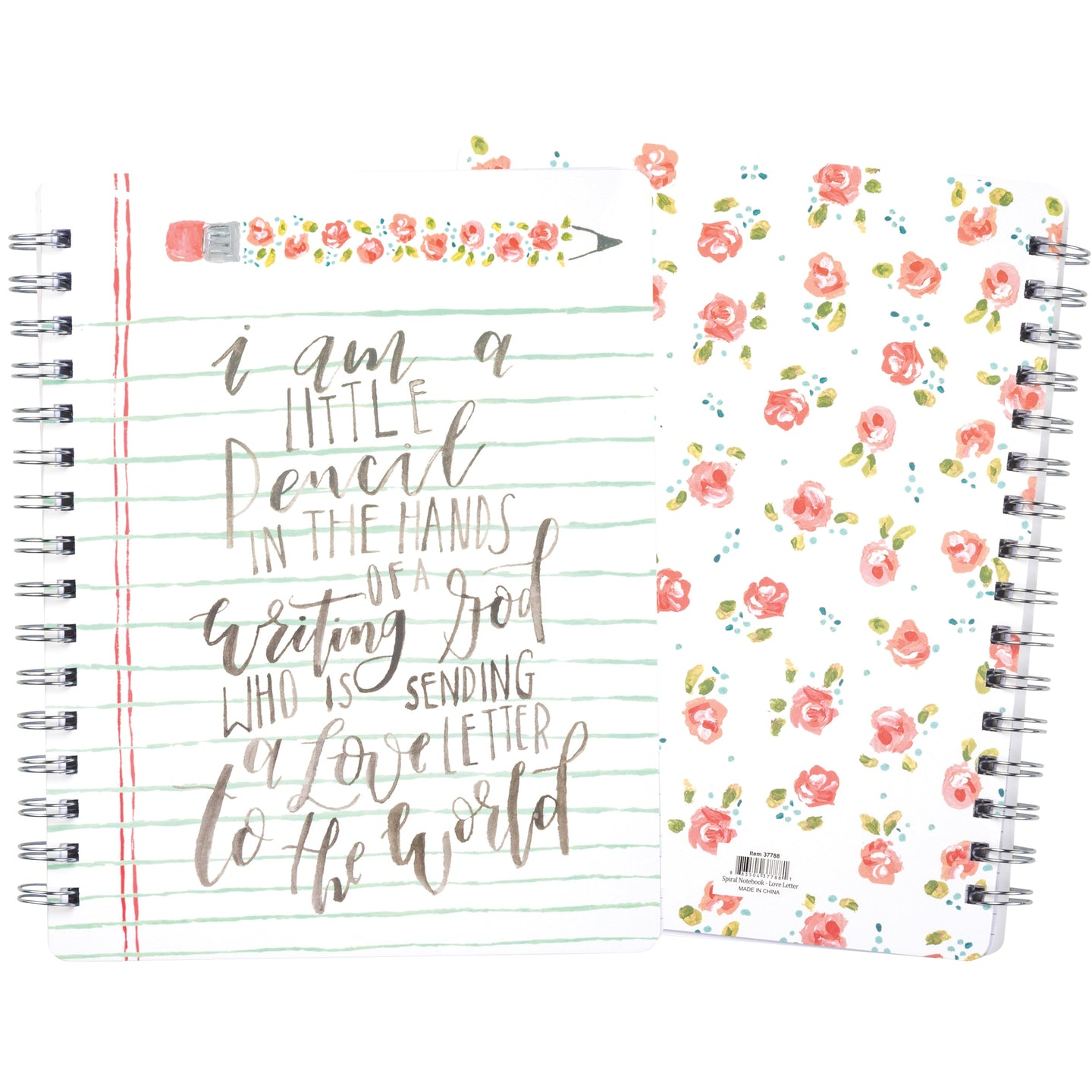 Pretty floral notebook for Christian women