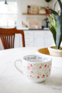 Floral coffee mug | Annie Quigley Art for Primitives by Kathy