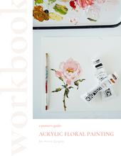 E-book #2 |  A Beginner's Guide to Acrylic Floral Painting (instant download)