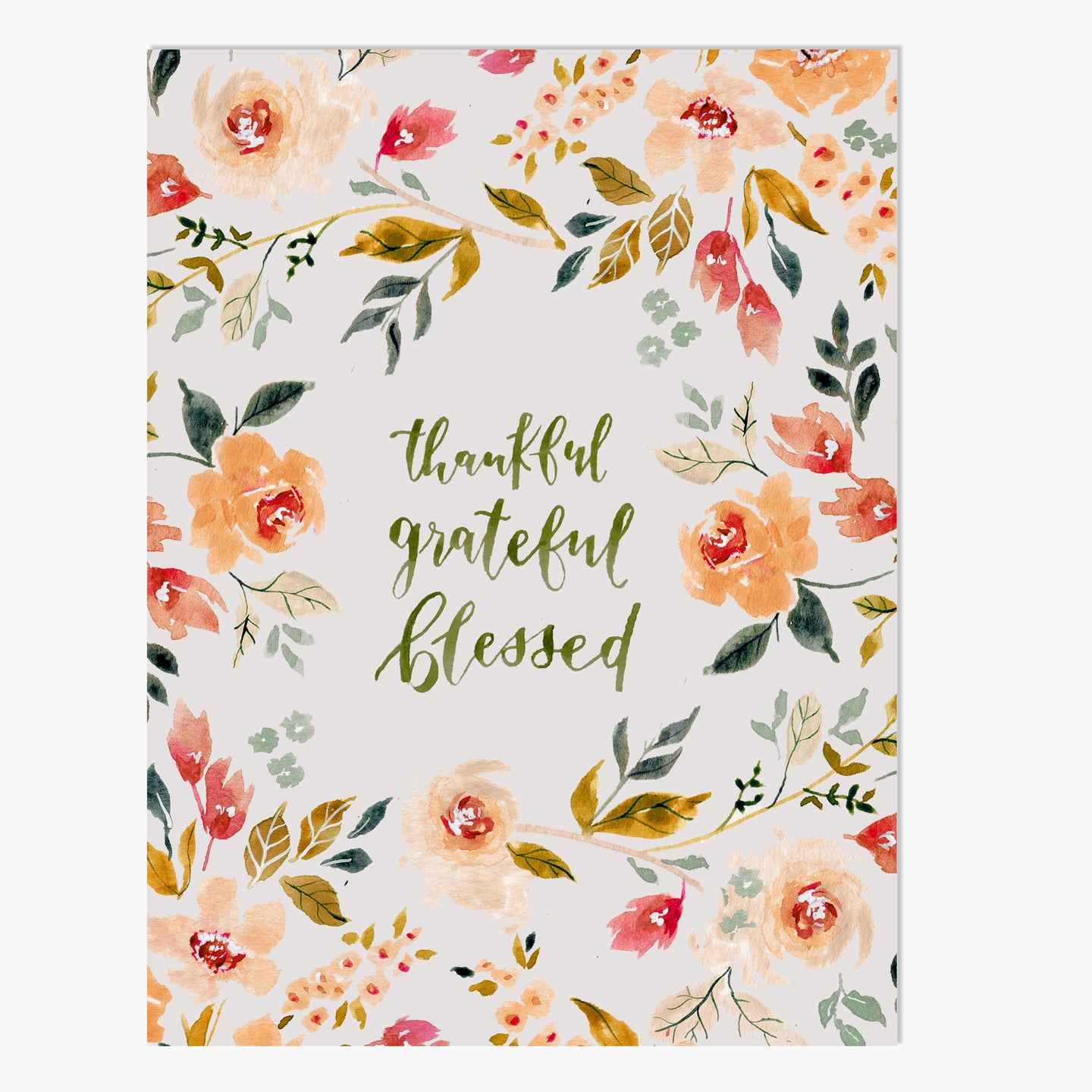 Fall Print | Thankful Grateful Blessed