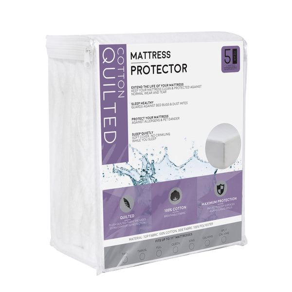 Quilted Cotton Mattress Protector