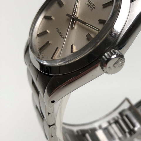 Rolex Oyster Precision with drilled lug holes