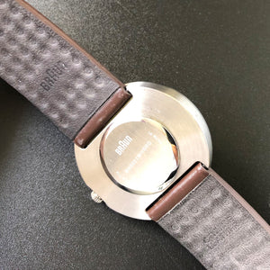 Back of Braun watch