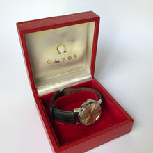 vintage Omega gents watch in red box