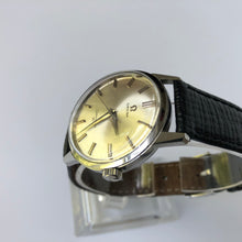 Omega watch with silver dial