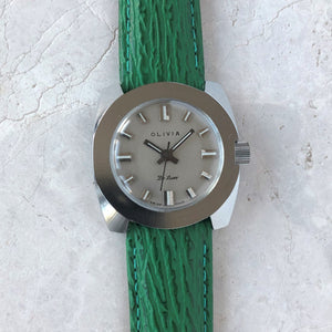 Cool 1970's watch with green strap