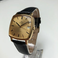 Square gold classic watch Omega