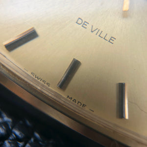 OmegaDeVille gold dial and hour markers