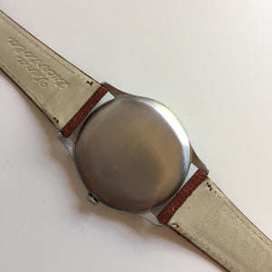 snap-on case back on vintage Eberhard watch