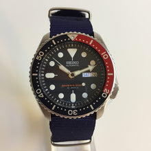 Seiko SKX009j on blue NATO strap
