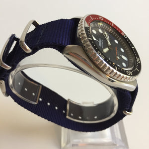 Seiko diving watch on nylon strap