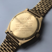 Nixon Time Teller Gold case back