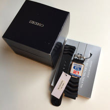 Seiko watch box and rubber strap
