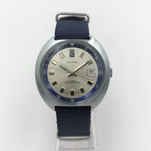 Olivia vintage watch on blue nato strap