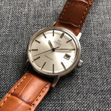 Vintage Omega watch on leather strap