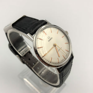 Vintage Omega watch with white face