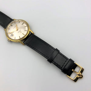 Vintage Omega watch with leather strap