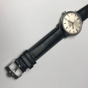 Omega logo on watch strap buckle