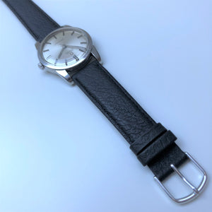 Omega watch with black strap