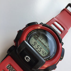 Red Casio G-shock digital watch