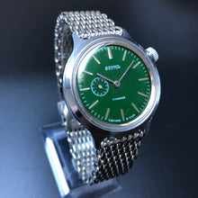 Retro watch with green face