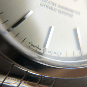 Dial markings of rolex T swiss made T