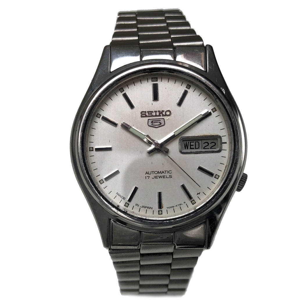 Vintage Seiko 5 day date watch