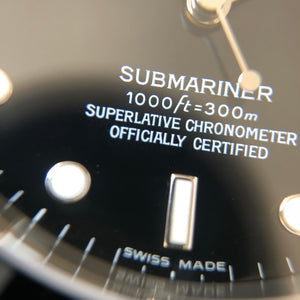 Superlative chronometer marking on Rolex dial
