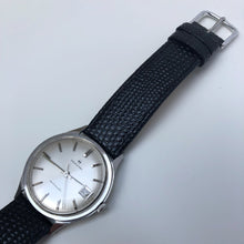 White Watch with black strap