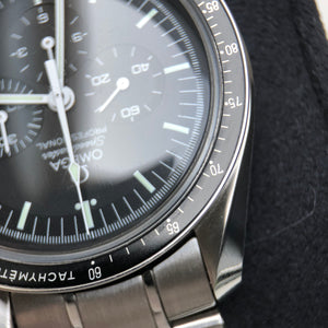 Close up of Omega Speedmaster